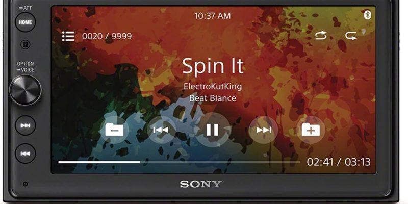 Sony XAV-AX100 | Car Play/Android Auto Media Receiver, Bluetooth